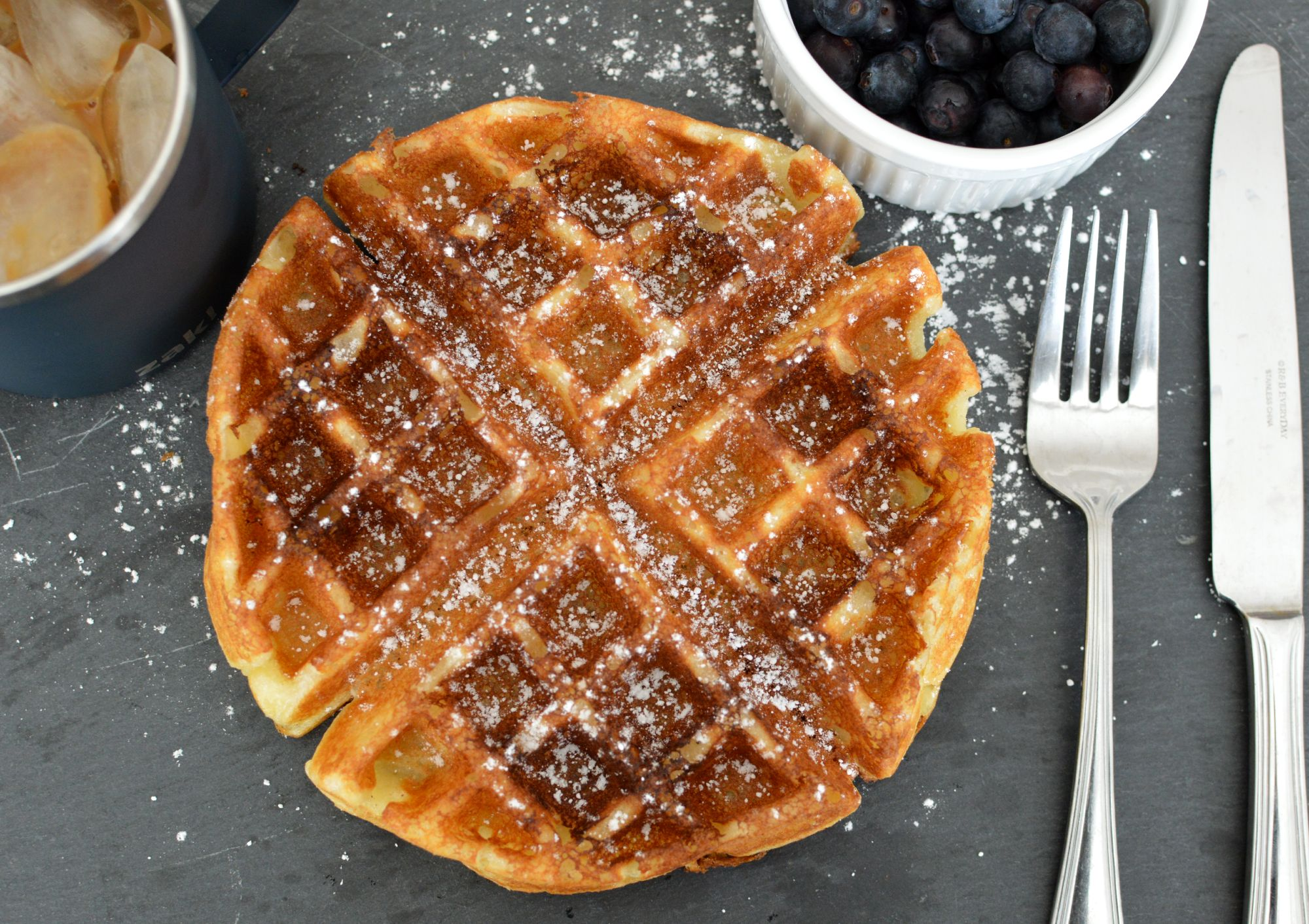 light and crispy waffle