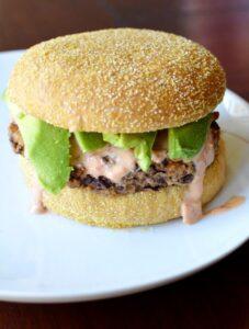 spicy black bean burger