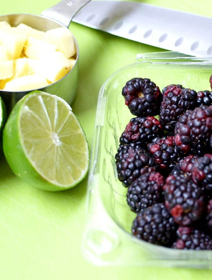 blackberries and lime