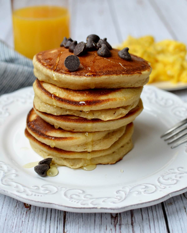a stack of cassava flour pancakes