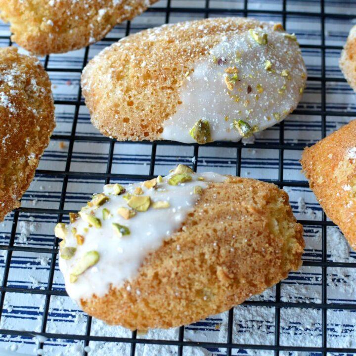 close up of gluten free madeleines