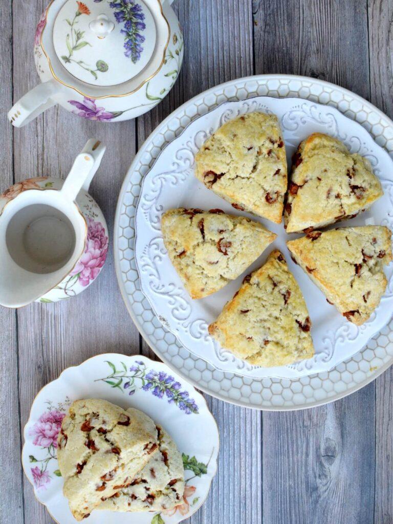 a plate of five gluten free scones