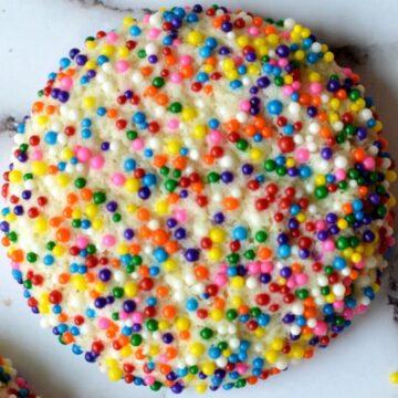 gluten free sprinkle cookie