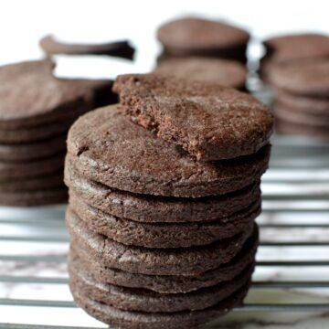 gluten free chocolate wafer cookies