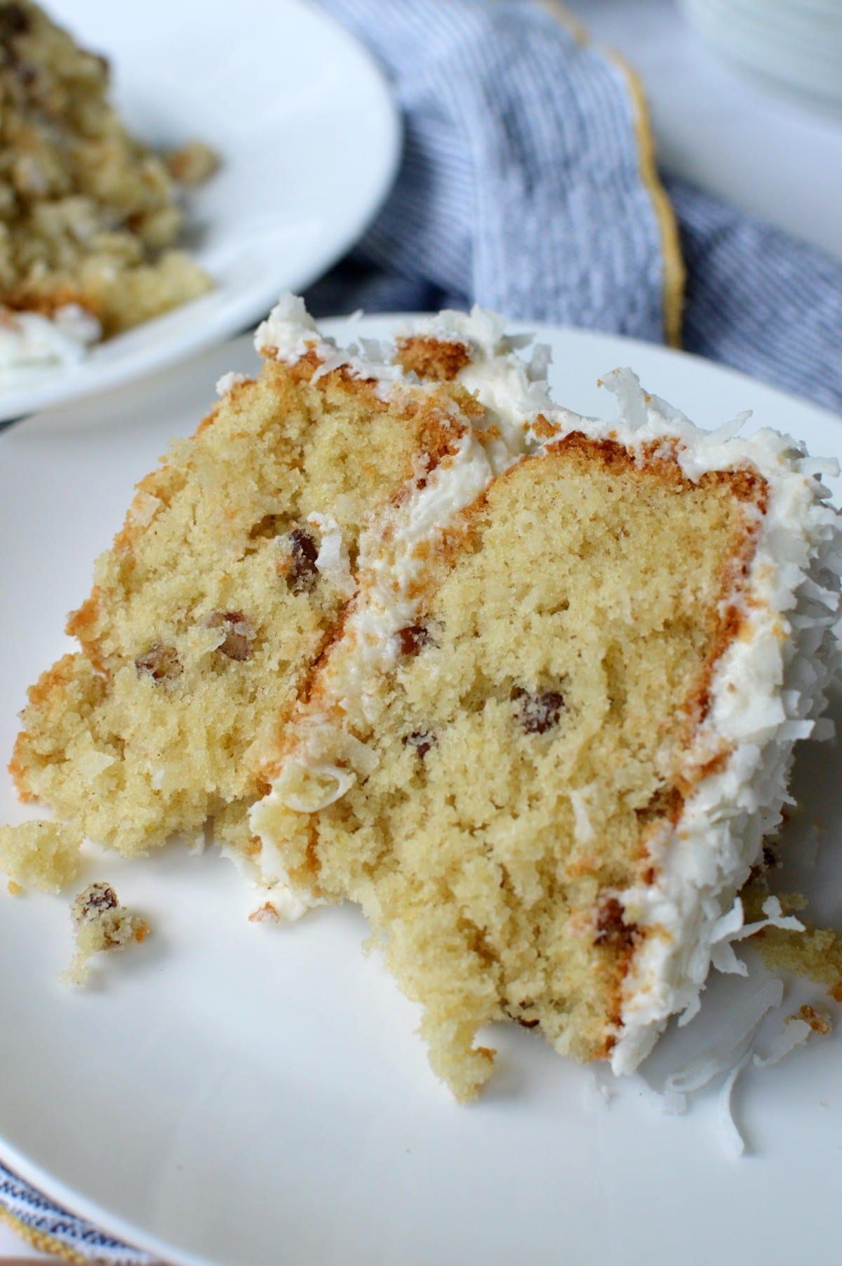 A slice of gluten free cake