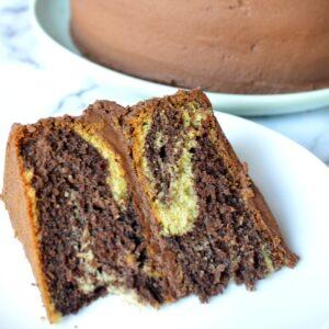 gluten free marble cake slice