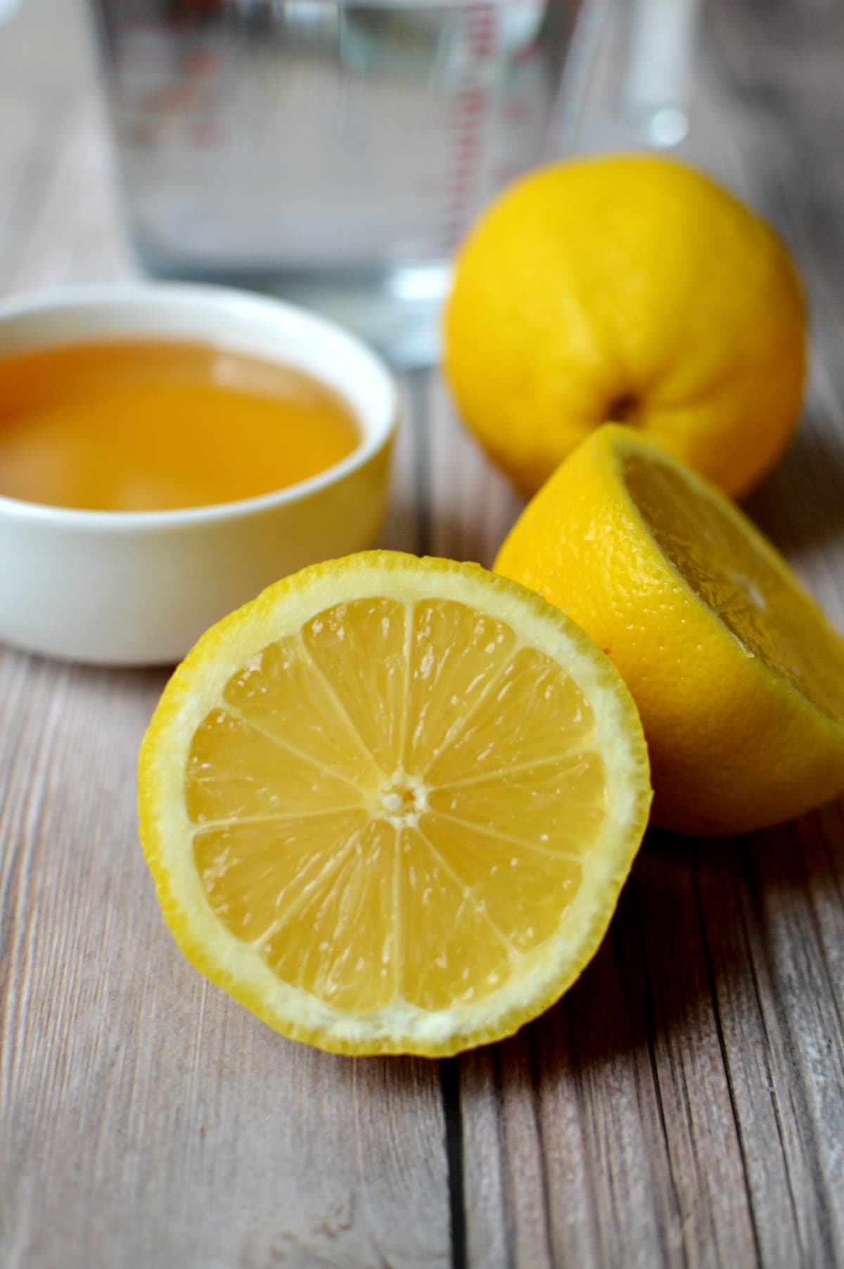Lemons, agave, and water