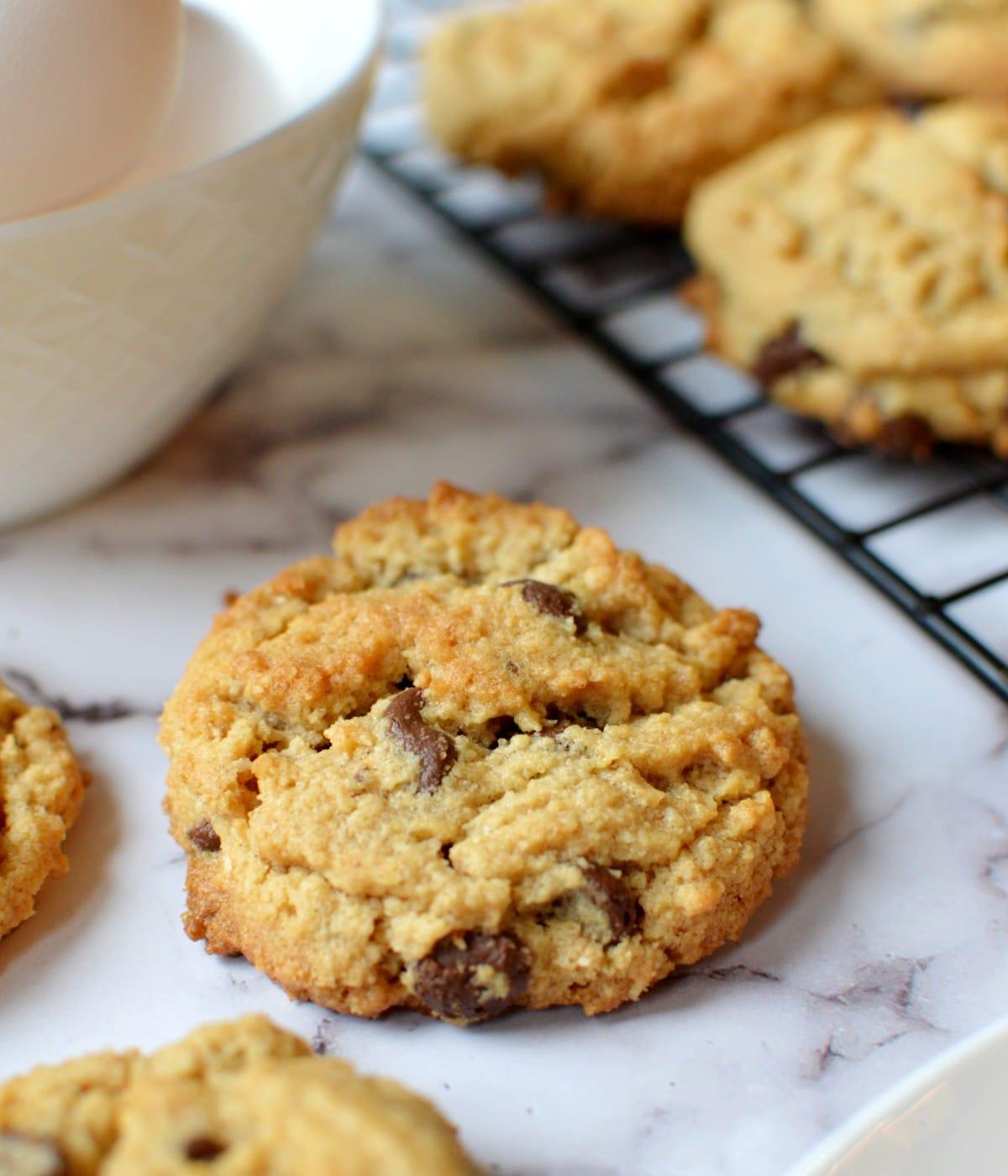 almond flour peanut butter chocolate chip cookie