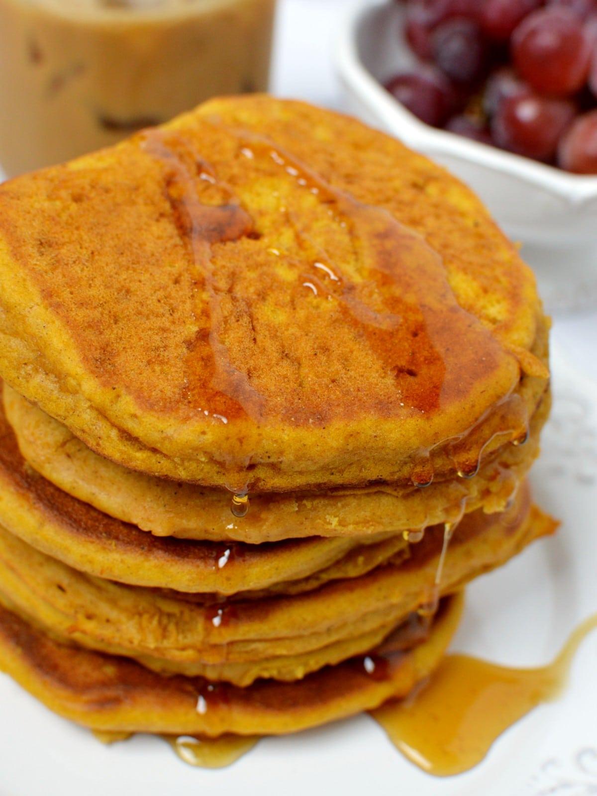 Closeup of pumpkin pancakes