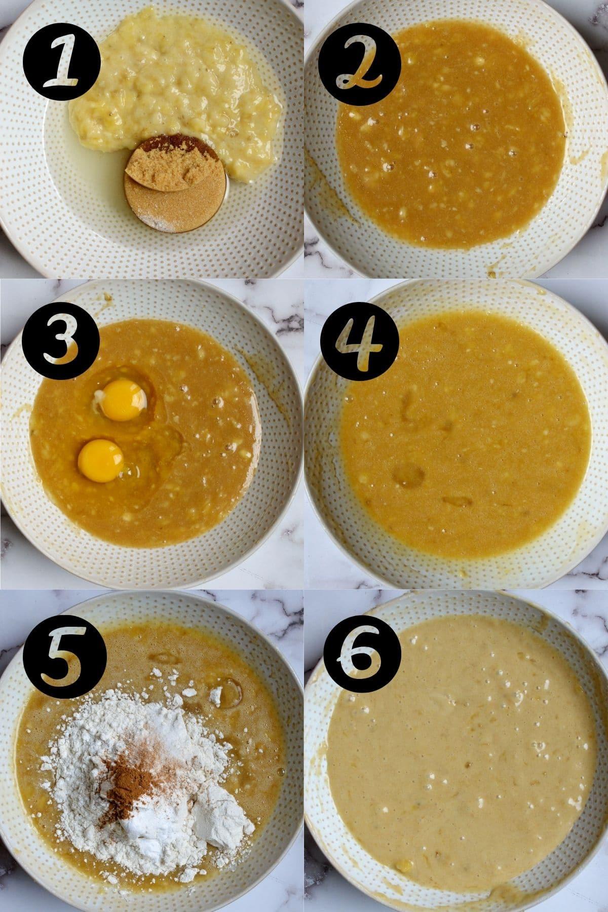 how to make banana bread batter