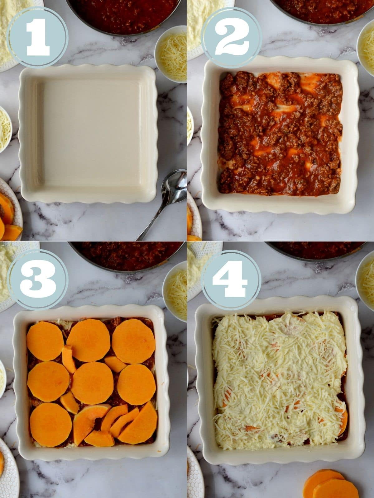 how to assemble the lasagna