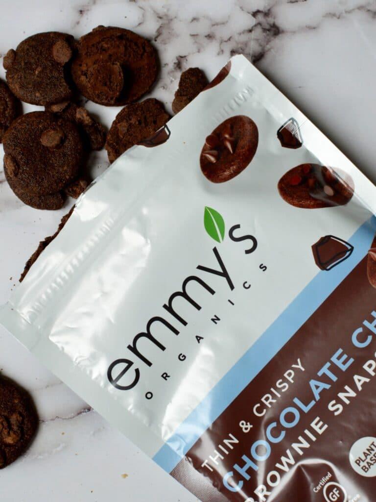 emmys organics chocolate chip brownie  snaps