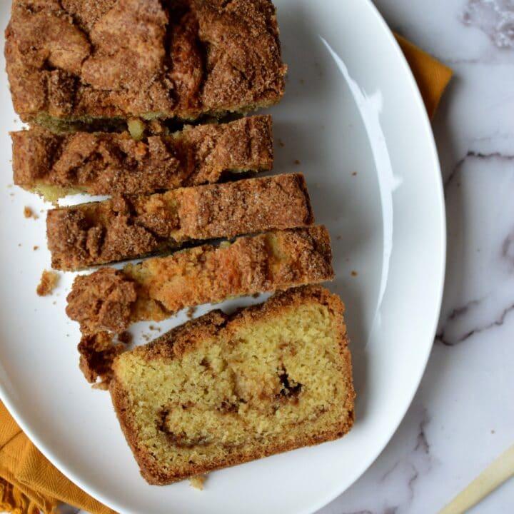 gluten free cinnamon quick bread