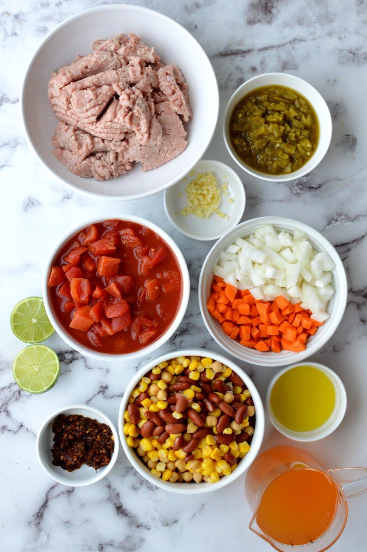Ingredients for panera chili